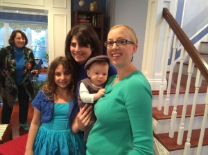 All dressed up to meet Great Aunt Stephanie, Great Uncle Ken, and cousin (2nd I think) Shoshana.