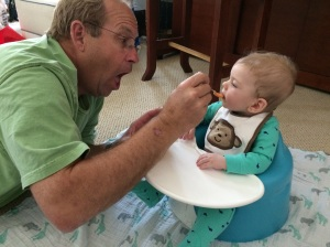 Eating pears with Gramps