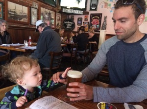 Here you are being curious about Dad's beer