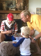 Building an airplane with Grandpa and Great Gramps